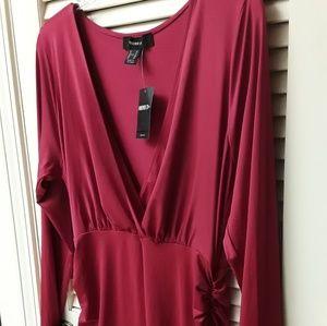 Red Hot VNeck BodyCon Dress NWT Plus Club Boho